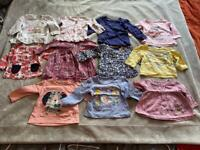 11 Girls long sleeve tops. Age 3-6 months