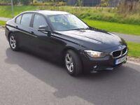 2012 12 BMW 3 SERIES 2.0 320D EFFICIENTDYNAMICS 4DR - Black Leather, Sat Nav, Parking Sensor, FBMWSH