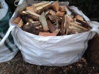 Builders bulk bag mixed logs