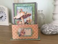 Fairy Dust mini album and display box. Hand made and unique. Beautiful gift or to keep.