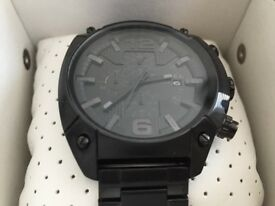 Diesel Triple Black Overflow Men's Chronograph Watch