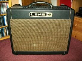 Line 6 DT25 1x12 Valve Combo Amplifier, with protective cover