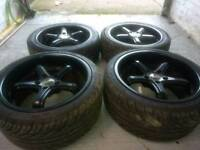 Alloy wheels 18 inch staggered Nissan skyline, 300zx, silivia 350z