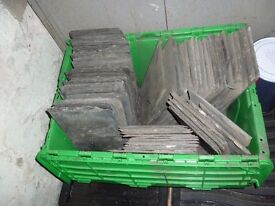 """Welsh Slate Roof Tiles 14"""" x 7"""" approx 600"""