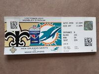 NFL INT SERIES WEMBLEY - SAINTS VS DOLPHINS - 01/10/2017 - BLOCK 141