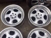 "4 x Mercedes W124 6.5 Brabus Alloy 18""rims"