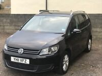 2011 Volkswagen Touran 2.0 TDI SE 5door 7Seats black diesel 7 SEATER drive good long MOT low mileage