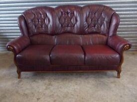 Oxblood Italian Leather 3-2-1 Suite (Sofa)