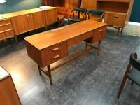 Teak Hall Table / Sideboard / Laptop Desk. Gimson & Slater. Retro Vintage Mid Century. Danish Style