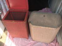 Two Lloyd loom washing baskets, vgc
