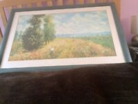 Large framed Claude Monet print/picture