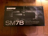 Shure SM7b Microphone ***Immaculate condition, Boxed, As New***