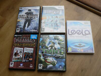 PC and wii games for sale