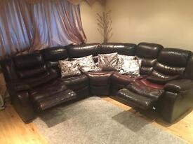Italian Leather Recliner sofa for sale - £450 Enfield