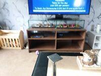 brown tv unit for black or white tv unit