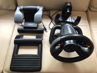 Saitek R220 Digital Steering Wheel and Pedal Set