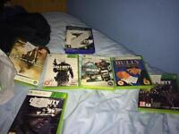 Xbox 360 Games, and a keyboard for the controller