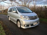 Toyota Alphard AS 58,374 Miles 2.4 7 Seater High Spec Sports Styling Camper Taxi