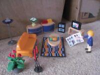 playmobil modern house room sets