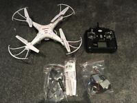Syma X5C Drone - Has Camera - With 4 Batteries, Charger And Loads Of Spare Propellers