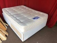 DOUBLE DIVAN BED WITH UNDER DRAW AND MATTRESS,CAN DELIVER