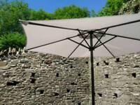 Large grey garden umbrella / parasol **NP11**