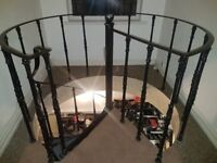 Metal Spiral staircase with 11 steps