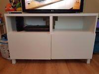 White tv unit table