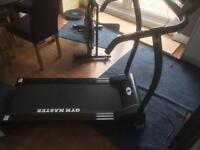 New treadmill by gym master sold unworking