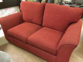 Two seater and armchair