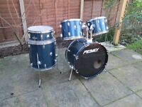 Drums - Beginners CB Shell Pack 5 Drum Kit - Blue - Optional Cheap Hardware and Cymbals