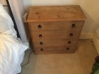 Small Mexican Pine Chest of Drawers