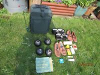 FULL SET OF BOWLING BOWLS WITH CASE PLUS ALL NECESSARY ACCESSORIES