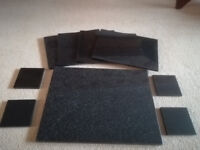 Slate 4 table placemat, 4 costers and 1 large table placemat