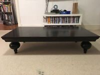 Solid wood coffee table/TV table in black