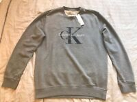 Brand New Calvin Klein Grey Jumper with tags (Size - XXL)
