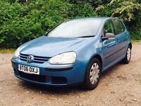 2006 Volkswagen Golf 1600cc 5 Door Hatchback.... low mileage & HPI Clear.