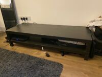 Amazing black wood IKEA TV stand / coffee table