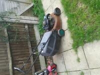 petrol lawnmower