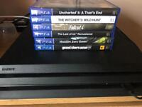 PS4 pro with 6 games