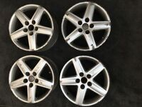 "Genuine Audi 17"" Alloy Wheels."