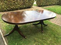 Mahogany table & six chairs