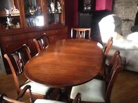 Hardwood Table - Chairs. Sideboards - Chairs. Excellent condition.