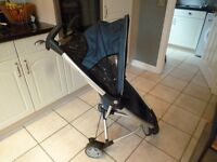 Quinny Zapp compact fold stroller, blue