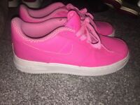 Women's pink Air Force 1