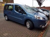 Peugeot Partner Tepee S Hdi 92 5 seater 2012 12, blue, used for airports, timing belt changed
