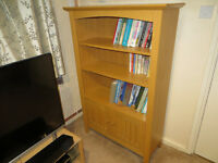 bookcase with 2 doors in good condition.
