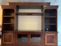 Media tv unit solid wood dark brown PICK UP ONLY