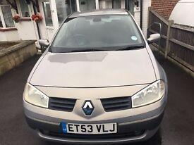 Renault Megane 1.5 Diesel DCI, FSH, 53 reg FOR SALE £795