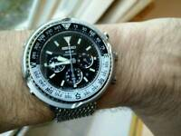 Seiko solar watch fieldmaster chronograph